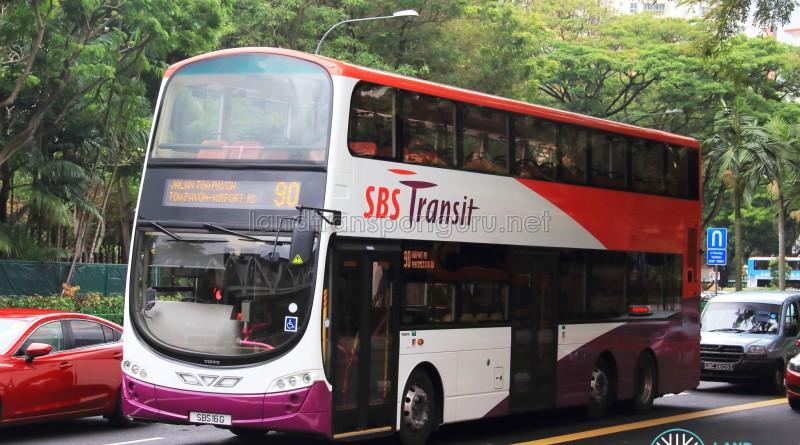 SBS Transit Volvo B9TL Wright (SBS16G) - Service 90