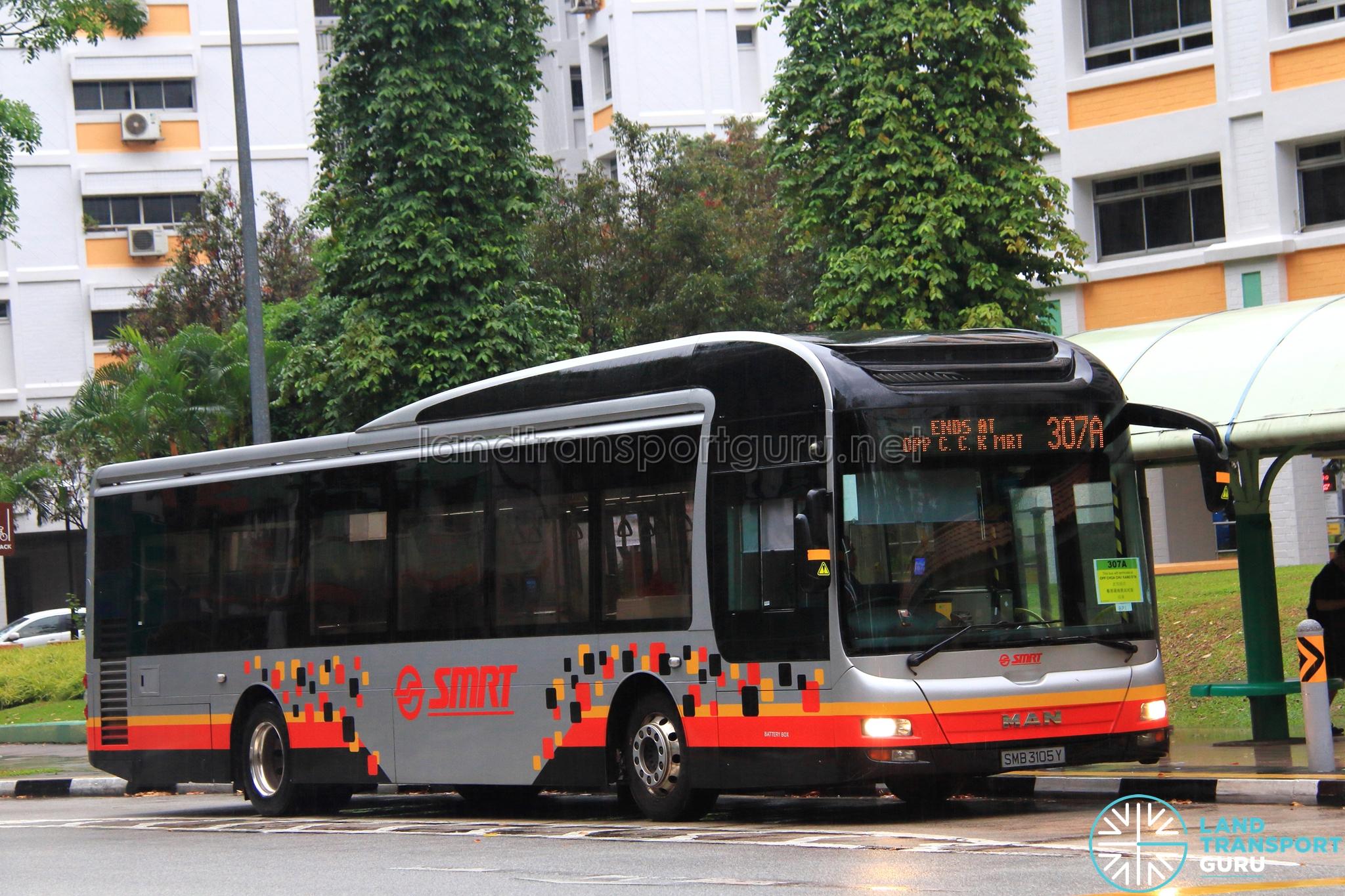 SMRT MAN NL323F A22 (SMB3105Y) - Service 307A