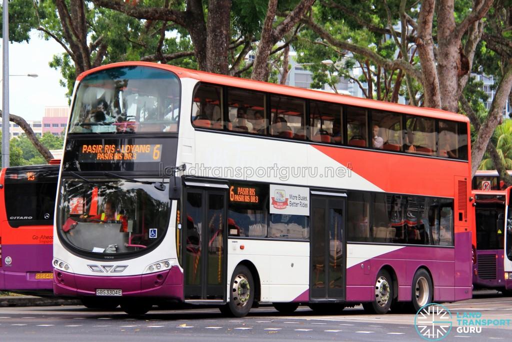 Go-Ahead Volvo B9TL Wright (SBS3304E) - Service 6