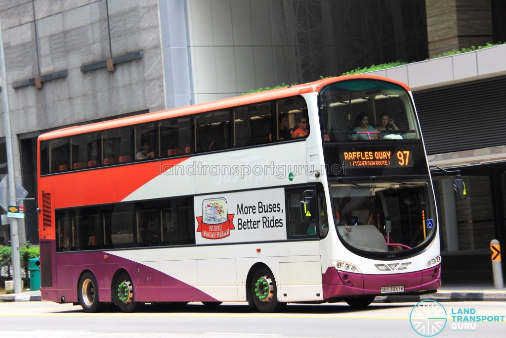 Tower Transit Volvo B9TL Wright (SBS3337K) - Service 97, terminating at Raffles Quay