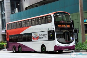 Tower Transit Volvo B9TL Wright (SBS3357C) - Service 106, skipping MBS/Esplanade