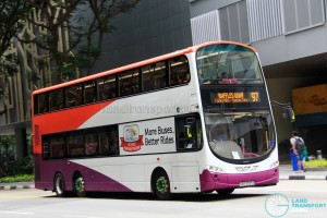 Tower Transit Volvo B9TL Wright (SBS3395S) - Service 97, terminating at Raffles Quay