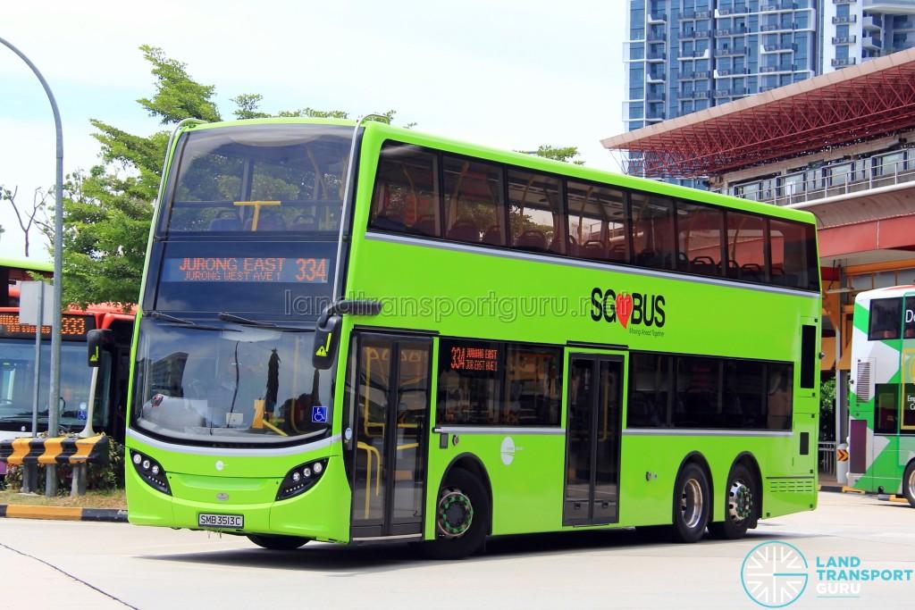 Tower Transit Alexander Dennis Enviro500 (SMB3513C) - Service 334