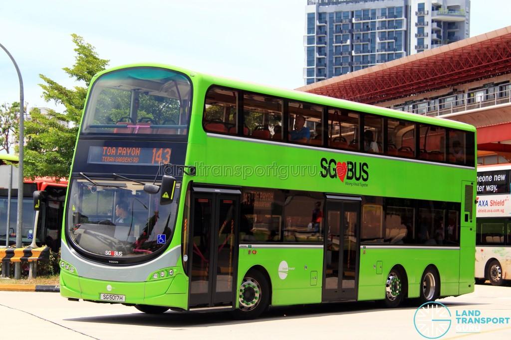 Tower Transit Volvo B9TL Wright (SG5017H) - Service 143