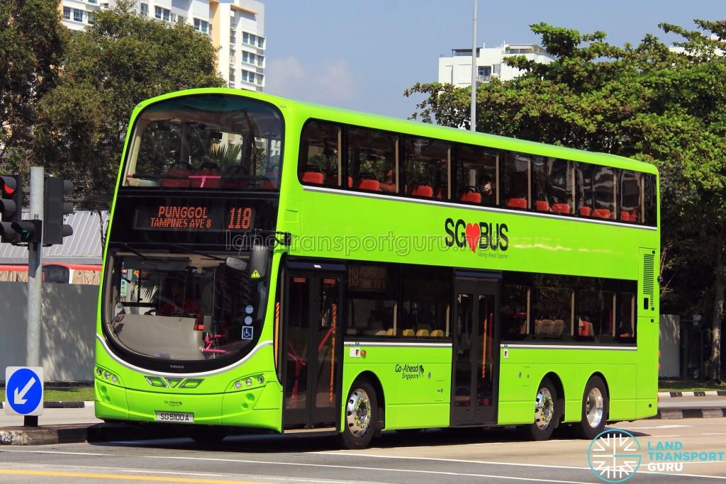 Go-Ahead Volvo B9TL Wright (SG5100A) - Service 118