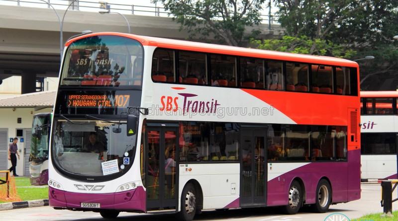 SBS Transit Volvo B9TL Wright (SG5308T) - Service 107