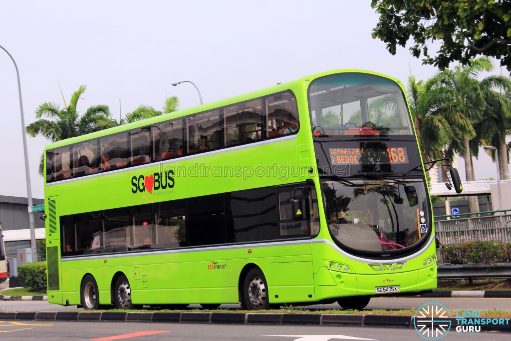Service 168 is one of 24 bus services under the Bedok Bus Package