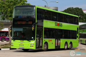 SG5783D on 969 - SMRT Buses MAN A95
