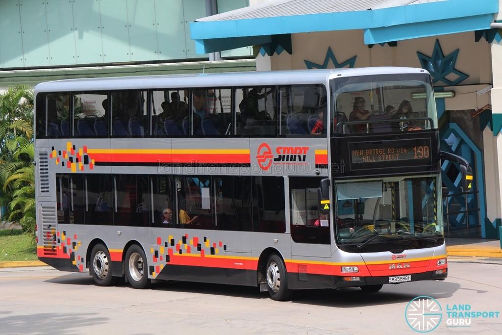 SMRT MAN A95 (SMB5888H) on Service 190