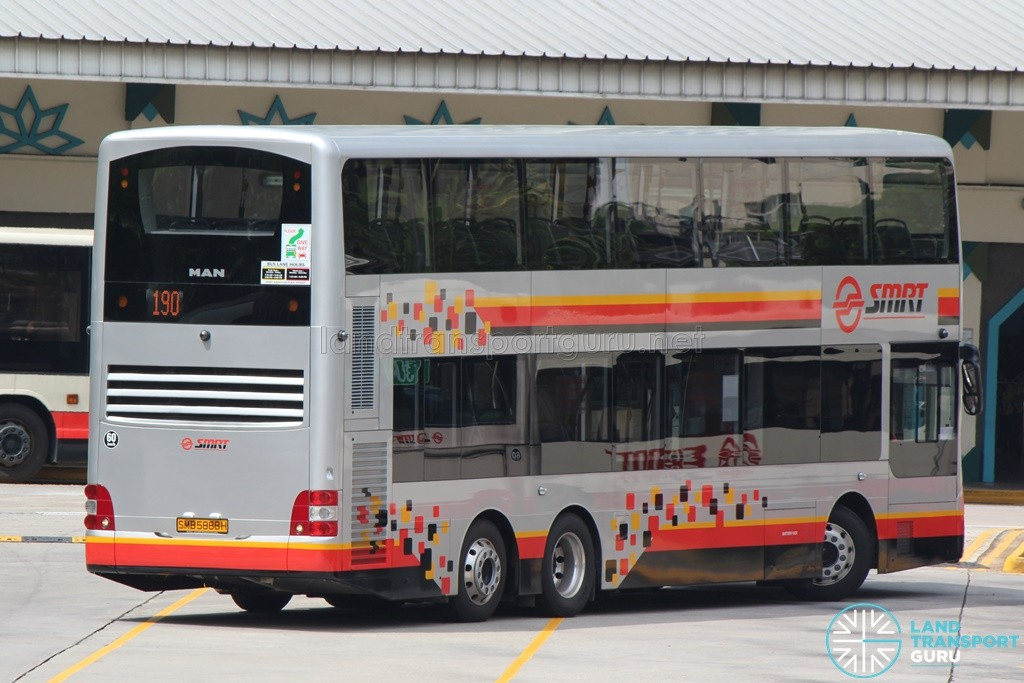 SMRT MAN A95 (SMB5888H) on Service 190 (Rear)