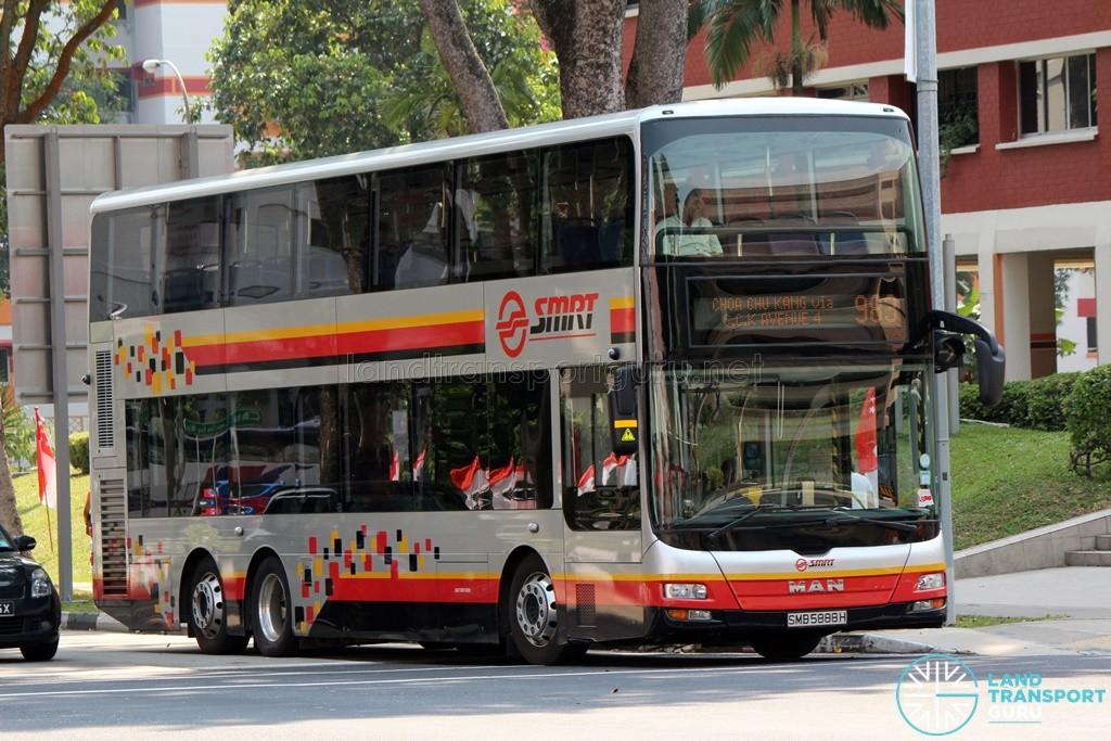 SMRT MAN A95 (SMB5888H) on Service 983