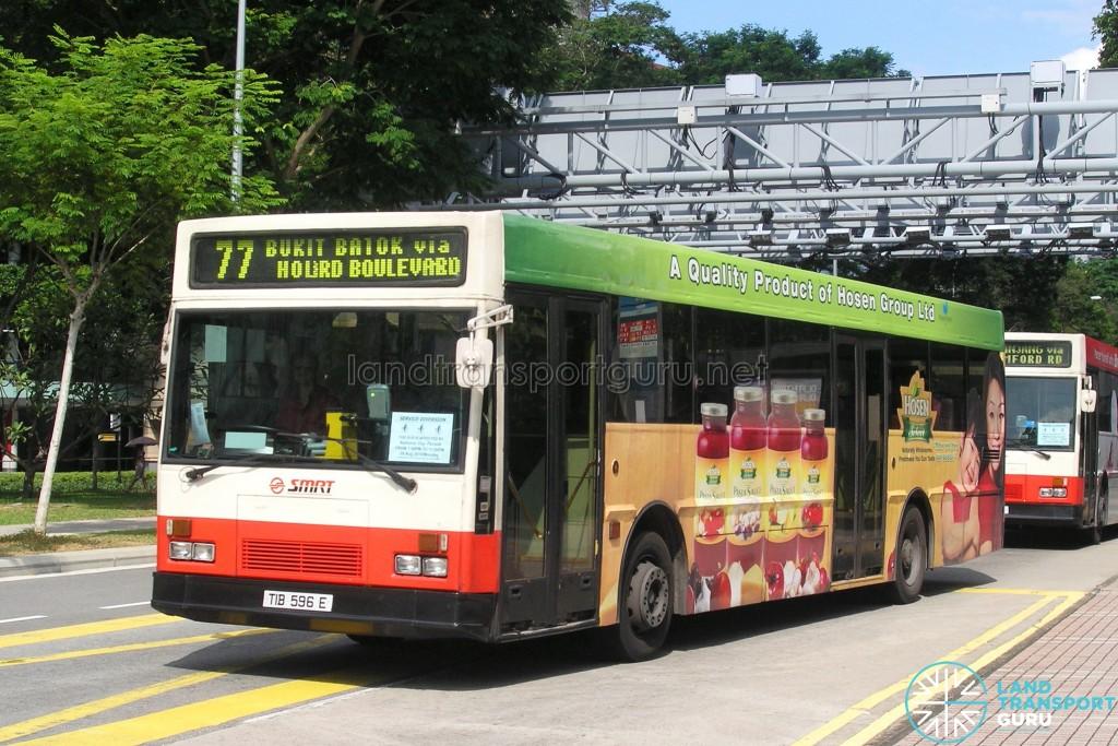 SMRT Mercedes-Benz O405 (TIB596E) - Service 77, with Transit Media EDS