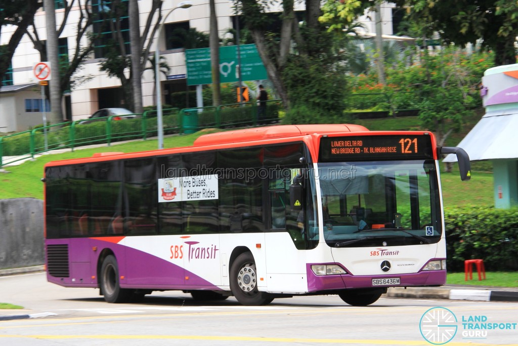 SBS Transit Mercedes-Benz Citaro (SBS6436M) - Service 121