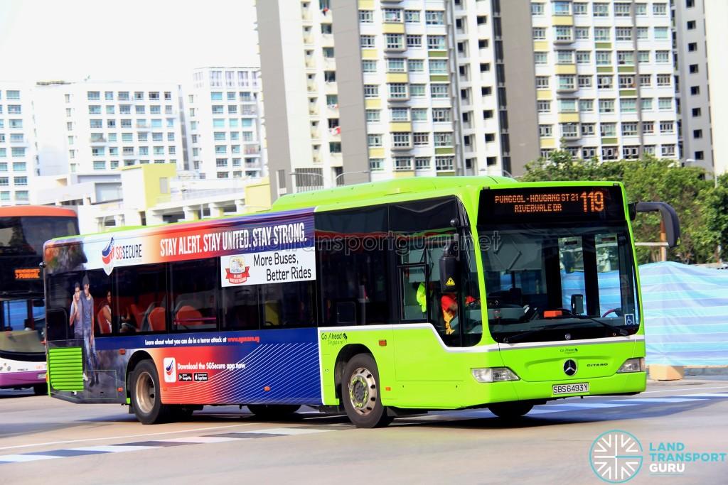 Go-Ahead Mercedes-Benz Citaro (SBS6493Y) - Service 119
