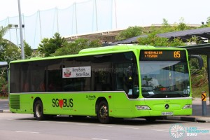 SBS6496P on 85 - Go-Ahead Singapore Mercedes-Benz Citaro