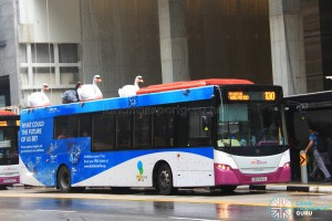 SBS Transit Scania K230UB (SBS8163L) - Service 130, featuring 3D advertising