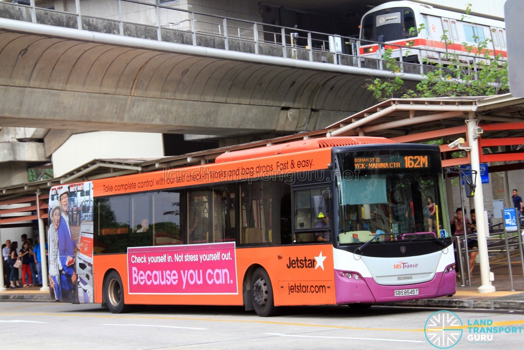 SBS Transit Scania K230UB Euro IV (SBS8545T) - Service 162M