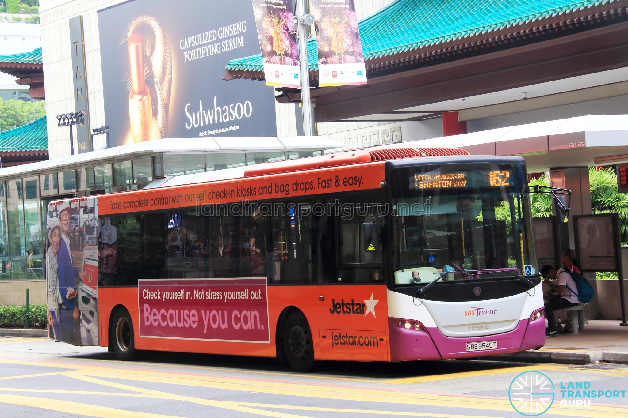 sbs transit bus service 162 / 162m | land transport guru