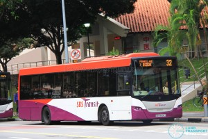 SBS Transit Scania K230UB Euro V (SBS8609T) - Service 32