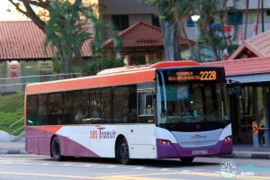 SBST Scania K230UB (SBS8627R) - Service 222B