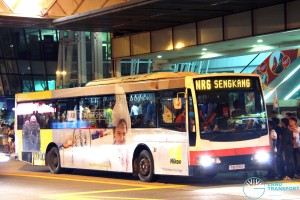 SMRT Mercedes-Benz O405 Volgren (TIB958U) - NightRider NR6, with LAWO BENEFIT EDS