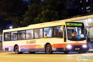 SMRT Mercedes-Benz O405 Volgren (TIB959S) - NightRider NR2, with LAWO ALUMA EDS