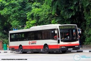 SMRT Mercedes-Benz O405 Volgren (TIB970H) - Service 970