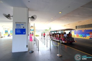 Beach Station Transfer Hub - Beach Tram queue
