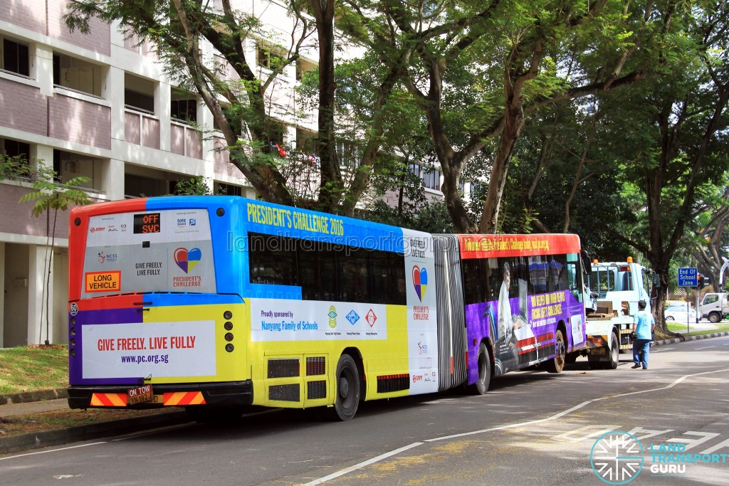 TIB1115D towed out of Toa Payoh East