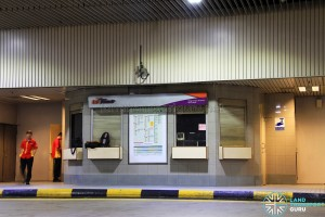 Vacated SBS Transit office at Changi Airport