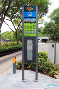 Dhoby Ghaut bus stop pole