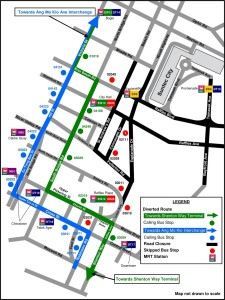 Formula 1 Diversions - Service 130 diversion map