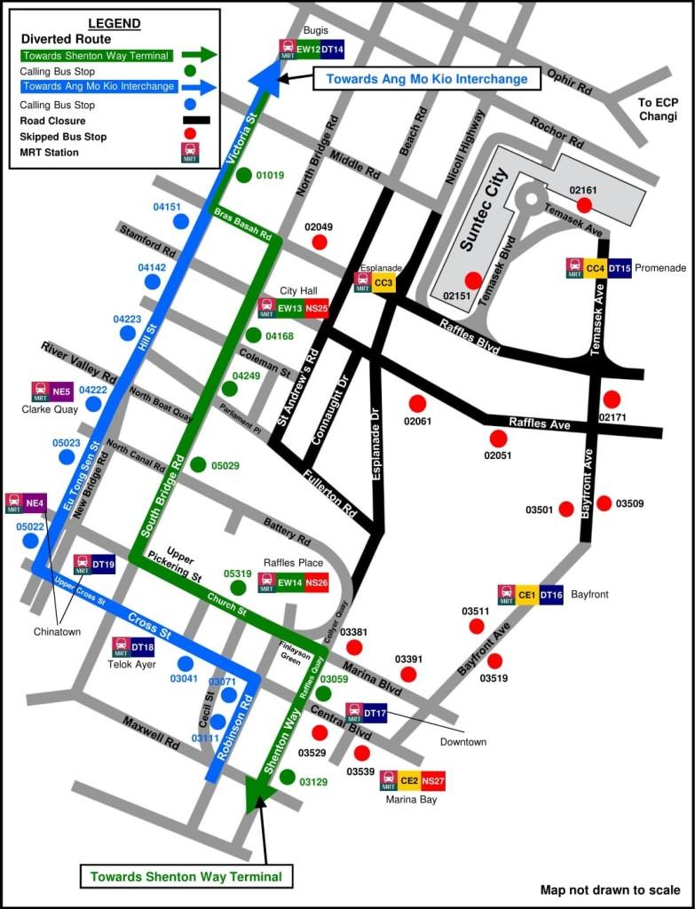 Formula 1 Diversions - Service 133 diversion map