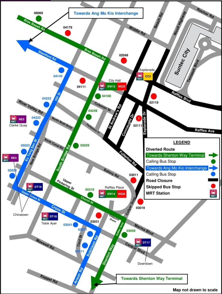 Formula 1 Diversions - Service 162 diversion map