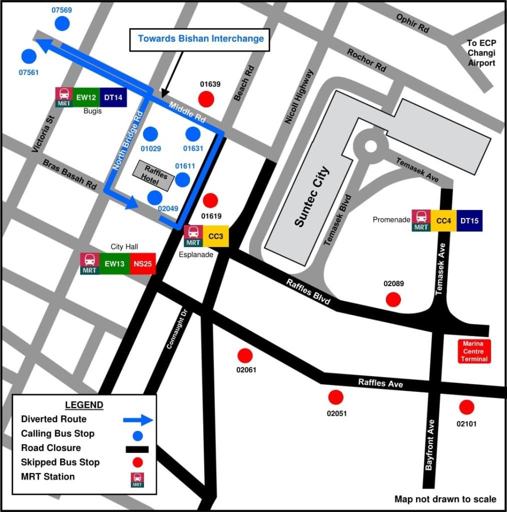 Formula 1 Diversions - Service 56 diversion map