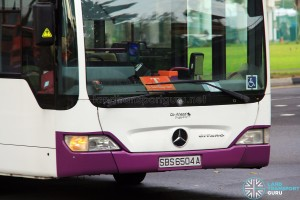 "Go-Ahead using old SBS Transit ""T""-plates"