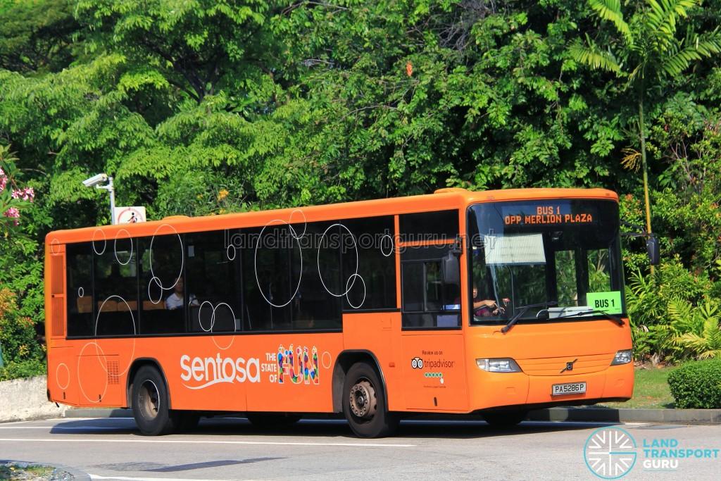 Volvo B7RLE (PA5286P) on Sentosa Bus 1