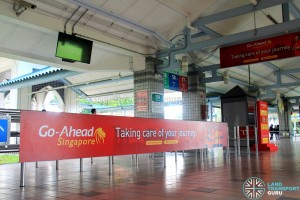 Pasir Ris Bus Interchange - Go-Ahead banner