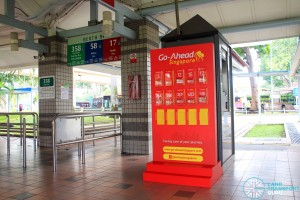 Pasir Ris Bus Interchange - Go-Ahead guide rack