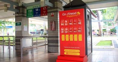 Pasir Ris Bus Interchange - Go-Ahead guide rack