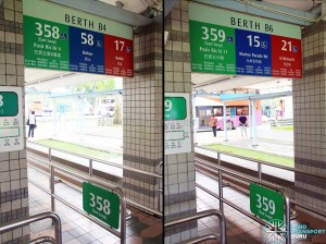 Removal of PPSS 358P and 359P from Pasir Ris Bus Interchange berths