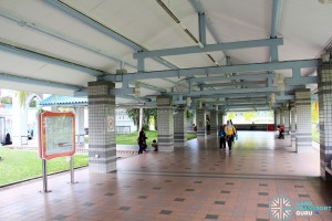 Pasir Ris Bus Interchange - Concourse near Alighting Berths
