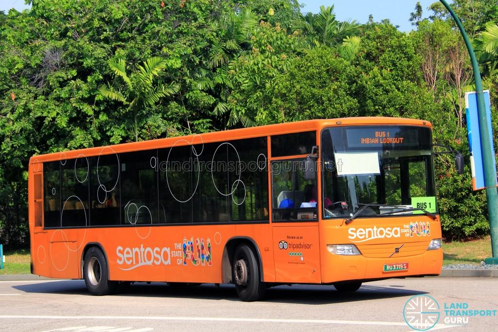 Volvo B7RLE (RU3719S) on Sentosa Bus 1