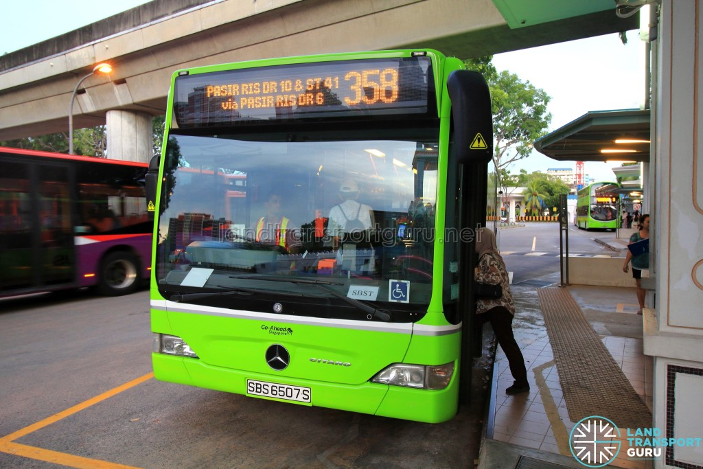 Go-Ahead Service 358 operated by SBS Transit Bus Captain