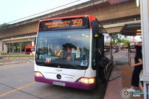 Go-Ahead Service 359 operated by SBS Transit Bus Captain