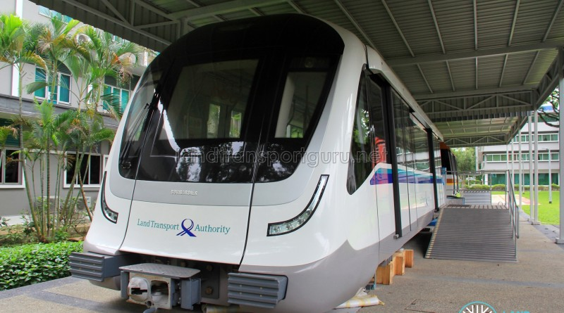 Downtown Line Rolling Stock (C951) Mockup at the Land Transport Authority HQ