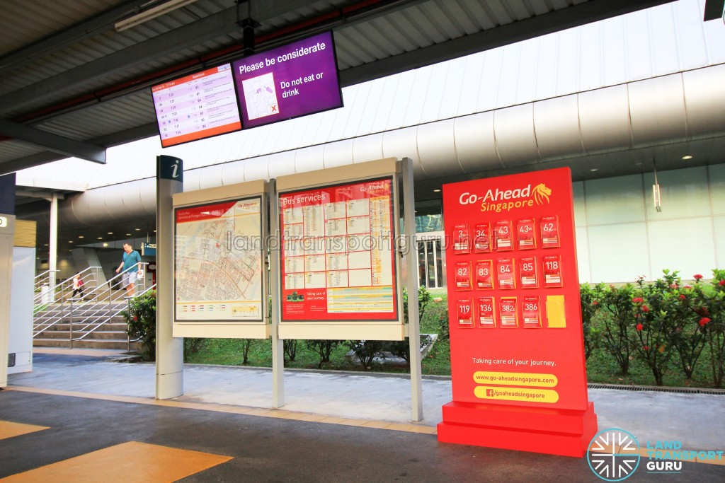 Go-Ahead Guide Rack and Information Boards at Punggol Interchange