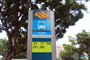 Bus Stop 55309 - Opp AMK Police Div HQ