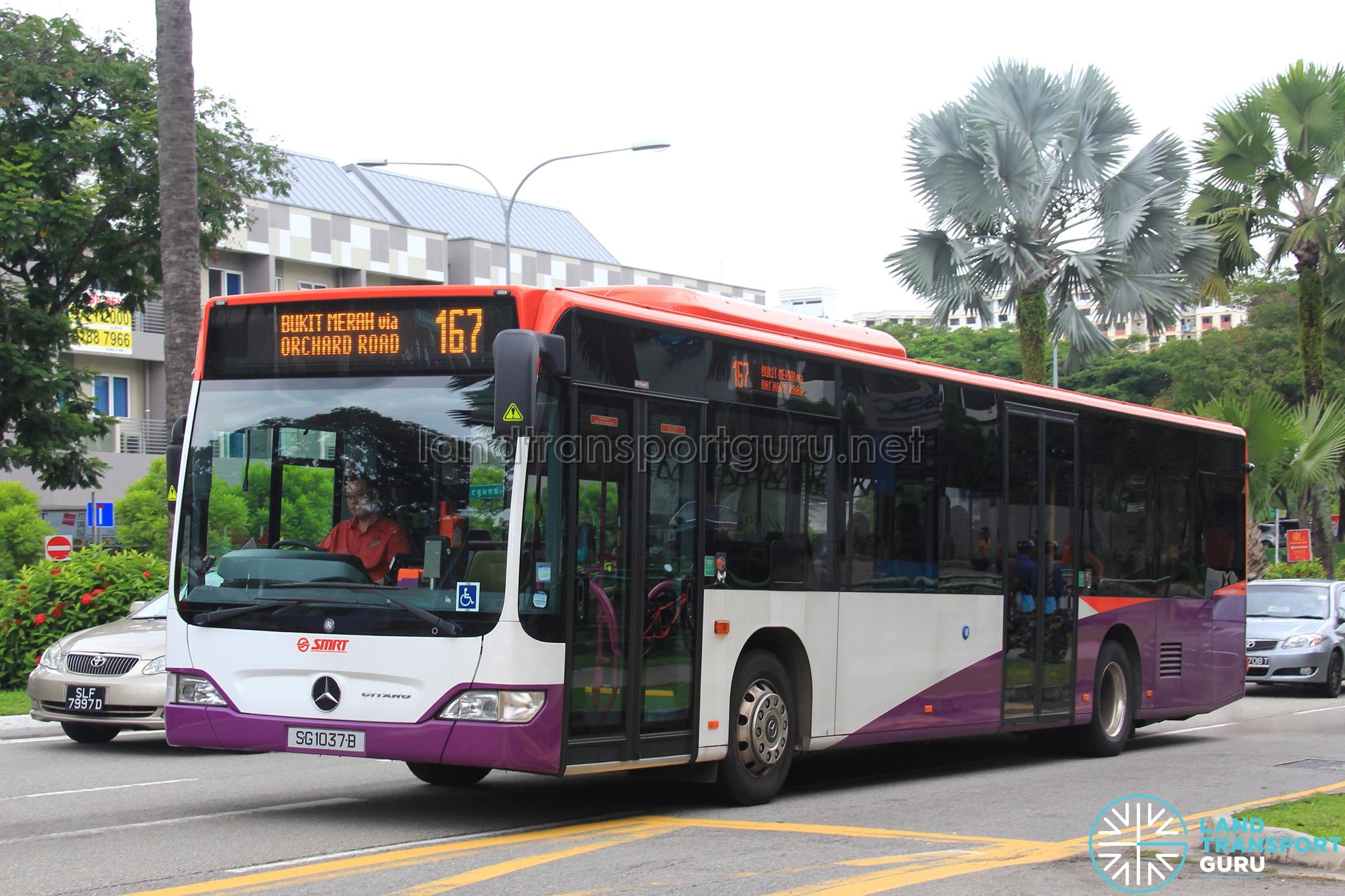SMRT Mercedes-Benz Citaro (SG1037B) - Service 167