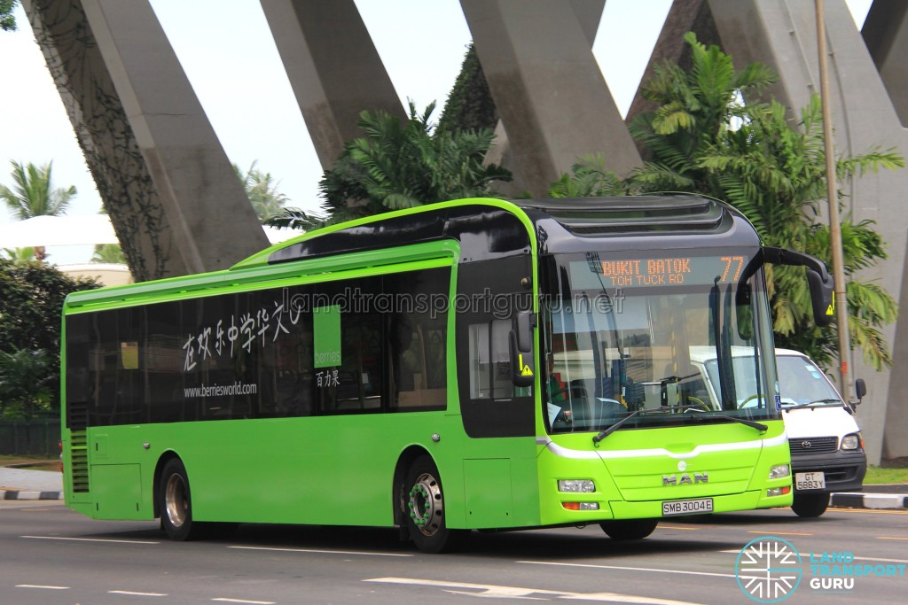 Tower Transit MAN A22 (SMB3004E) - Service 77 - Berries advertisement wrap